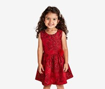The Children's Place Toddler Girls Textured Dress, Ruby