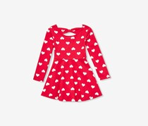 The Children's Place Toddlers Heart Print Dress, Ruby