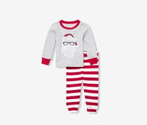 Toddler's Longsleeve Shirt And Legging Set, Gray/Red/White