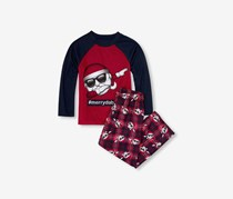 The Children's Place Top and Printed Pants Pajamas, Red