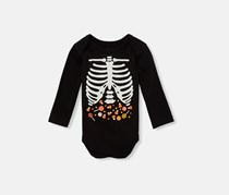 The Children's Place Toddler Boy's Glow In The Dark Bodysuit, Black