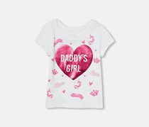 The Children's Place Toddler Daddy's Girl Print Tee, White