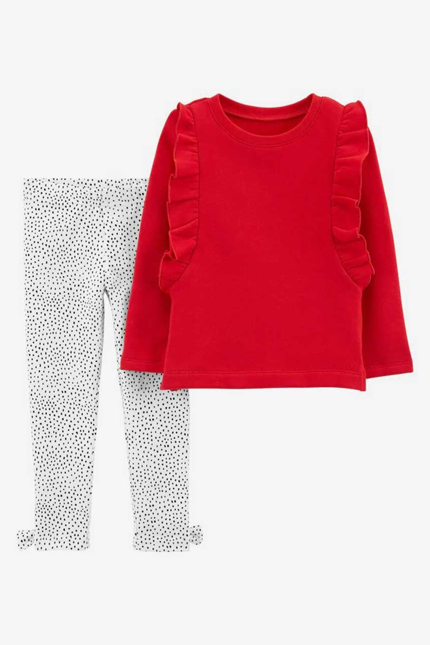 Baby Girls 2Pc. Set,Top and Leggings, Red