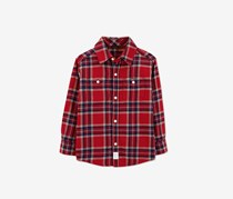 Carters Toddler's Plaid Casual Shirt, Red Combo