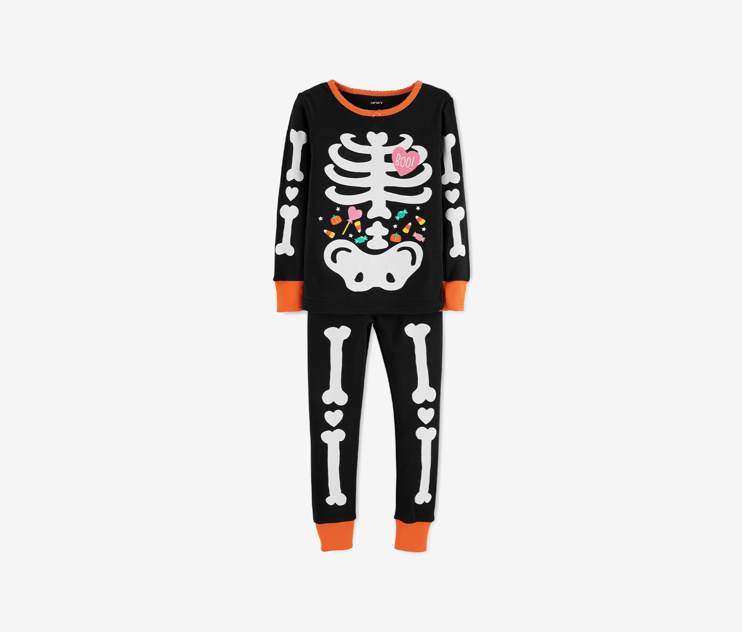 Toddlers Girl's 2pc. Skeleton Print Top & Legging Set, Black