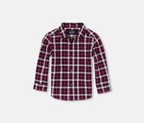 The Children's Place Toddler Checkered Casual Shirt, Burgundy