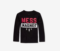 The Childrens Place Toddlers Boys Mess Magnet Tee, Black