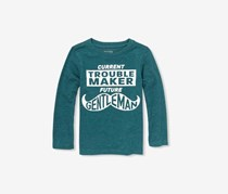 The Children's Place Little Boy's Graphic Print Tee, Teal Tides