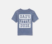 The Children's Place Baby Boy's Graphic T-Shirt, Blue Heather
