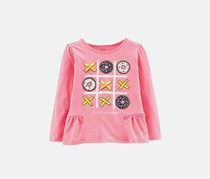 Carter's Girls Graphic T-Shirt, Pink