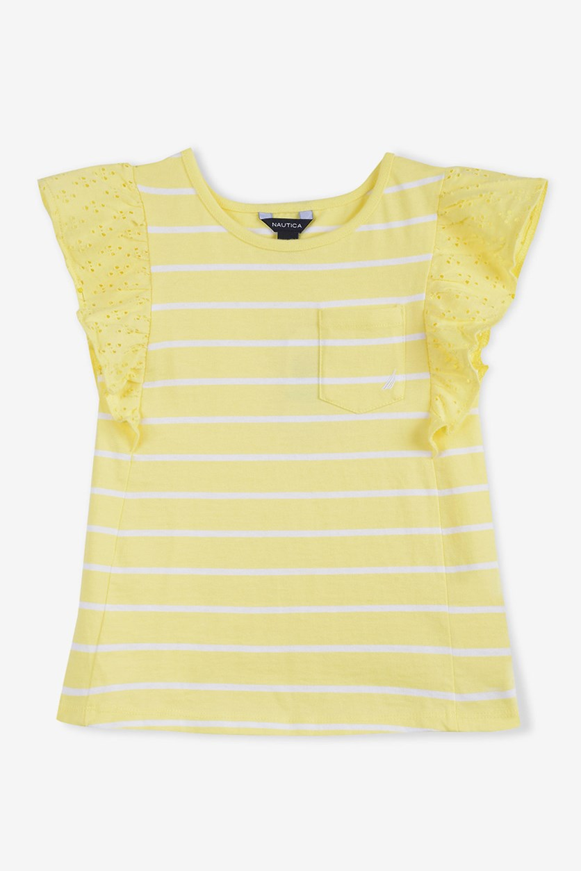Kids Girls' Stripe Knit Top, Lemonade