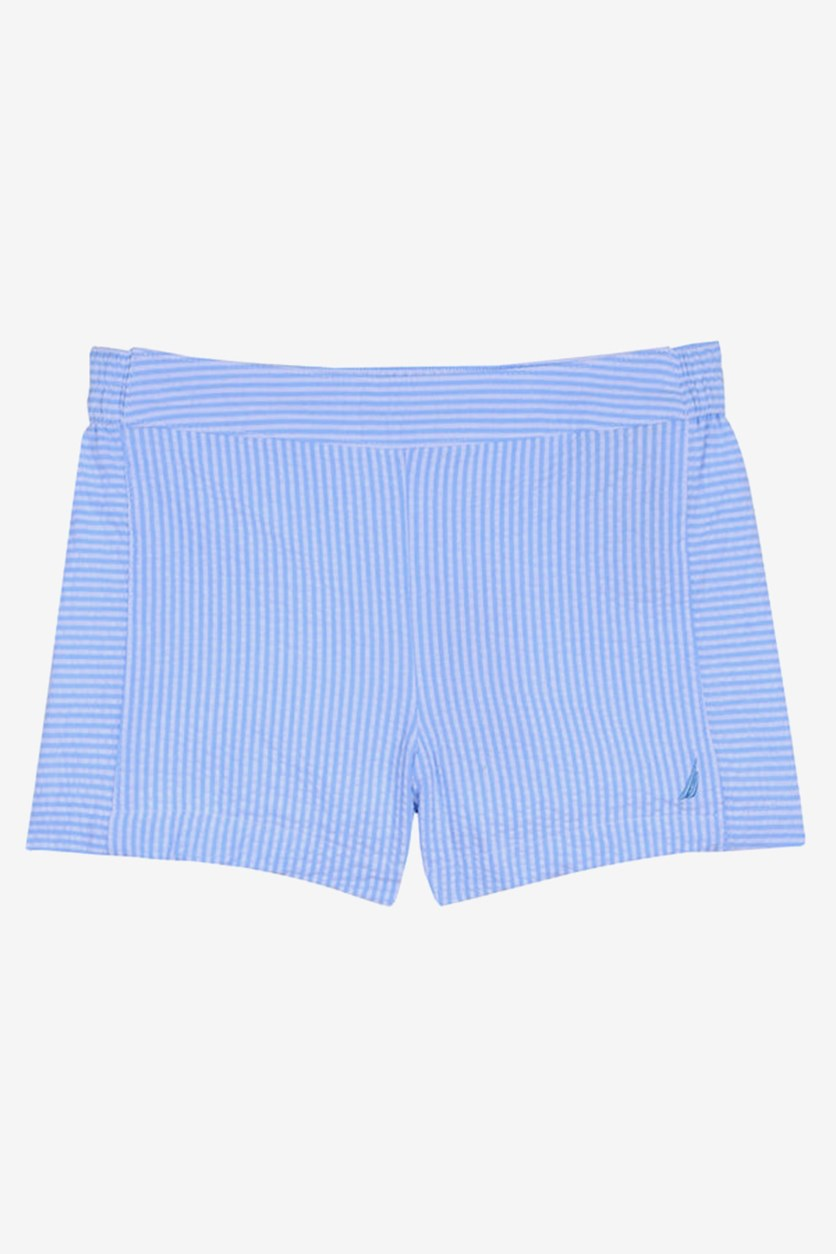 Kids Girls' Stripe Seesucker Pull-on Shorts, Blue