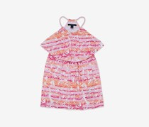 Nautica Big Girls' Foliage Popover Dress Dresses, Rose Pink