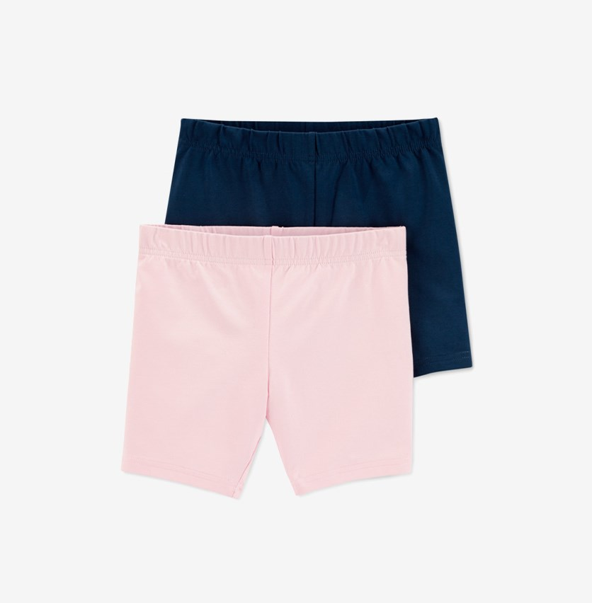 Carter's Toddler Girls 2-Pack Shorts Set, Navy/Pink