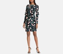 American Living Floral-Print Layered Dress, Black