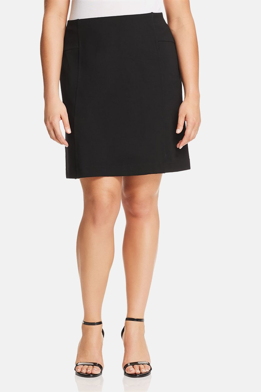 Women's Plus Size Straight Mini Straight Skirt, Black