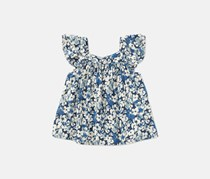 Ralph Lauren Toddler Girls Floral Flutter-Sleeve Top, Floral