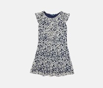Polo Ralph Lauren Girls' Floral Chiffon Dress, Navy Combo