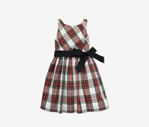 Ralph Lauren Big Girls Tartan Fit & Flare Dress, Red Combo