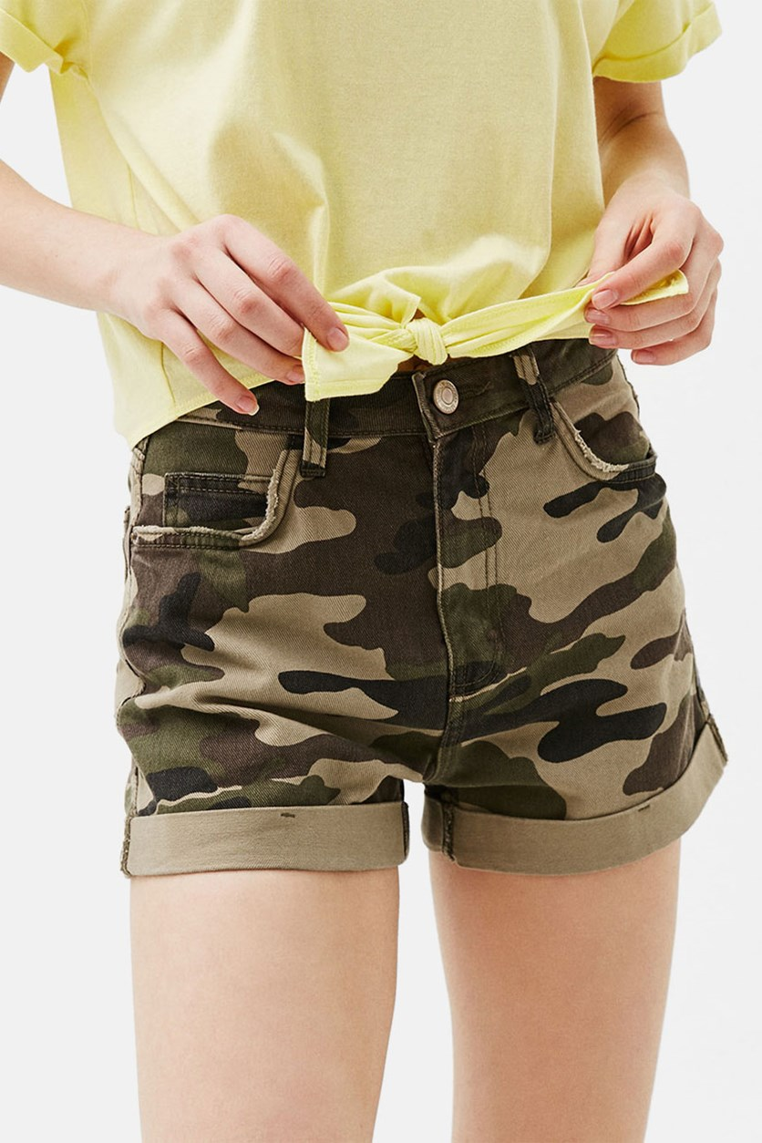 Women's High Waist Short, Camo