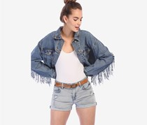 Bershka Women's Denim Short, Light Blue Wash
