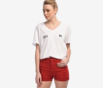 Bershka Women's Short, Red