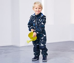 Boy's Softshell Jumpsuit, Navy