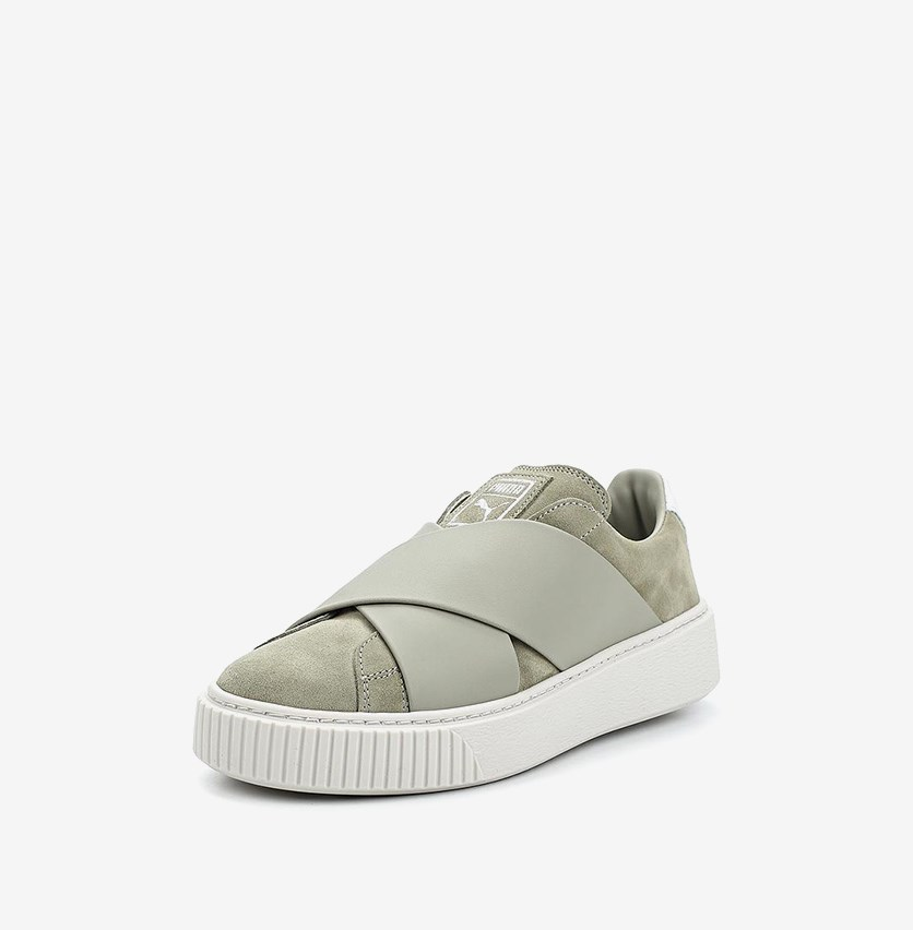 Women's Platform X Shoes, Rock Ridge/White
