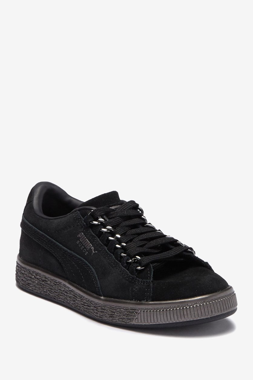Suede Classic X Chain Sneaker, Black