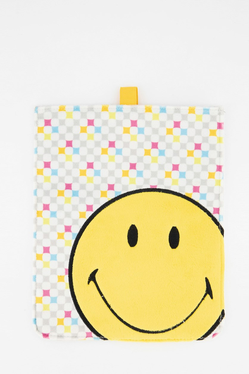 Smiley Plush Sleeve For Ipad Smiley Allover, Yellow