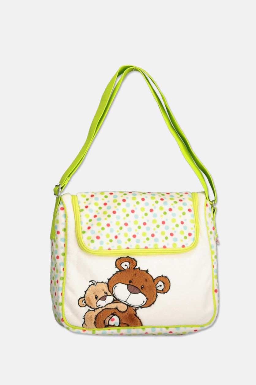 Kids Boys & Girls Classic Bear Bag, Lime Green Combo