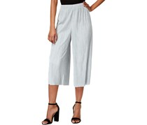 Bar III Women's Pleated Pull On Gaucho Pants, Grey