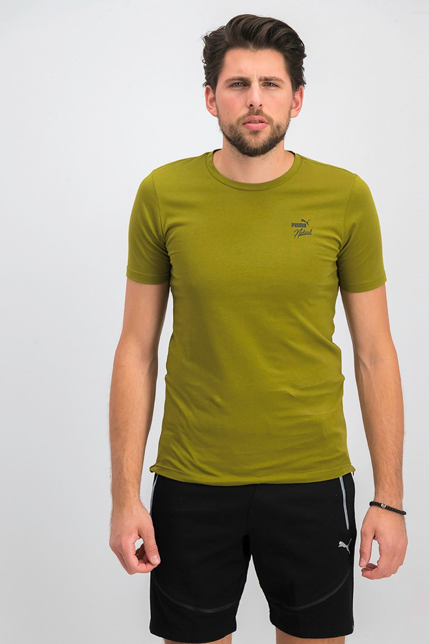Men's Naturel Zip Hem Shirt, Olive