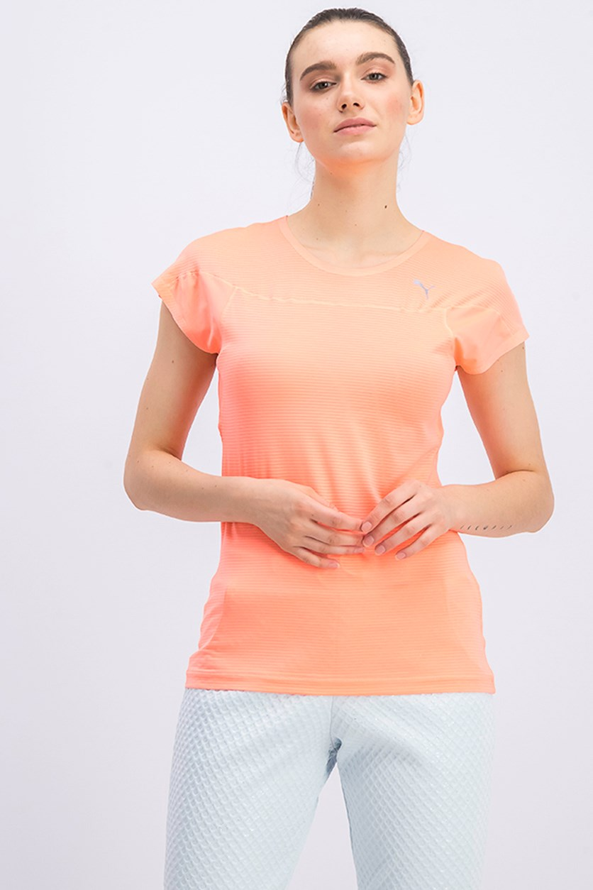 Women's Running Shirt, Neon Peach