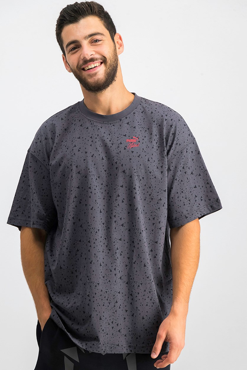 Men's Triangle Dot T-Shirt, Dark Grey