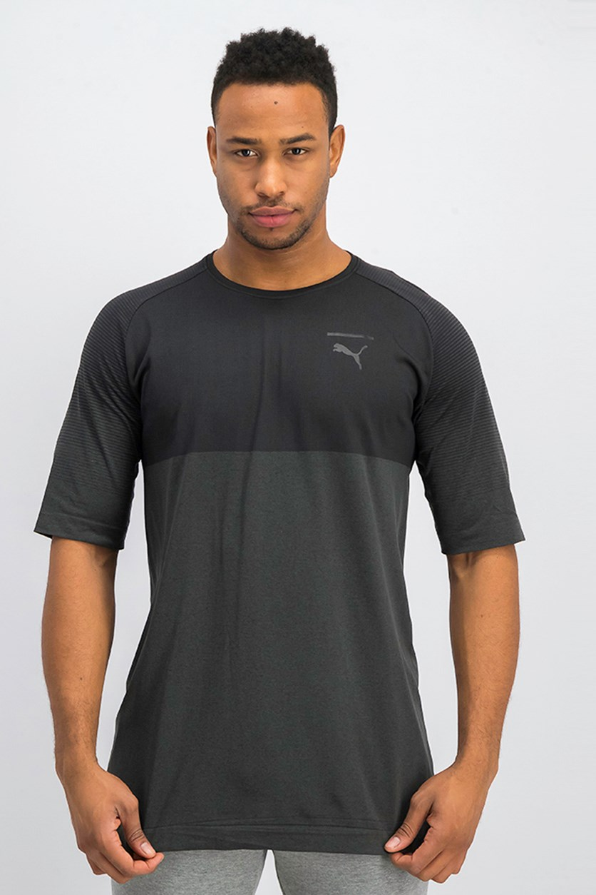 Men's Pace Evoknit T-Shirt, Black Heather