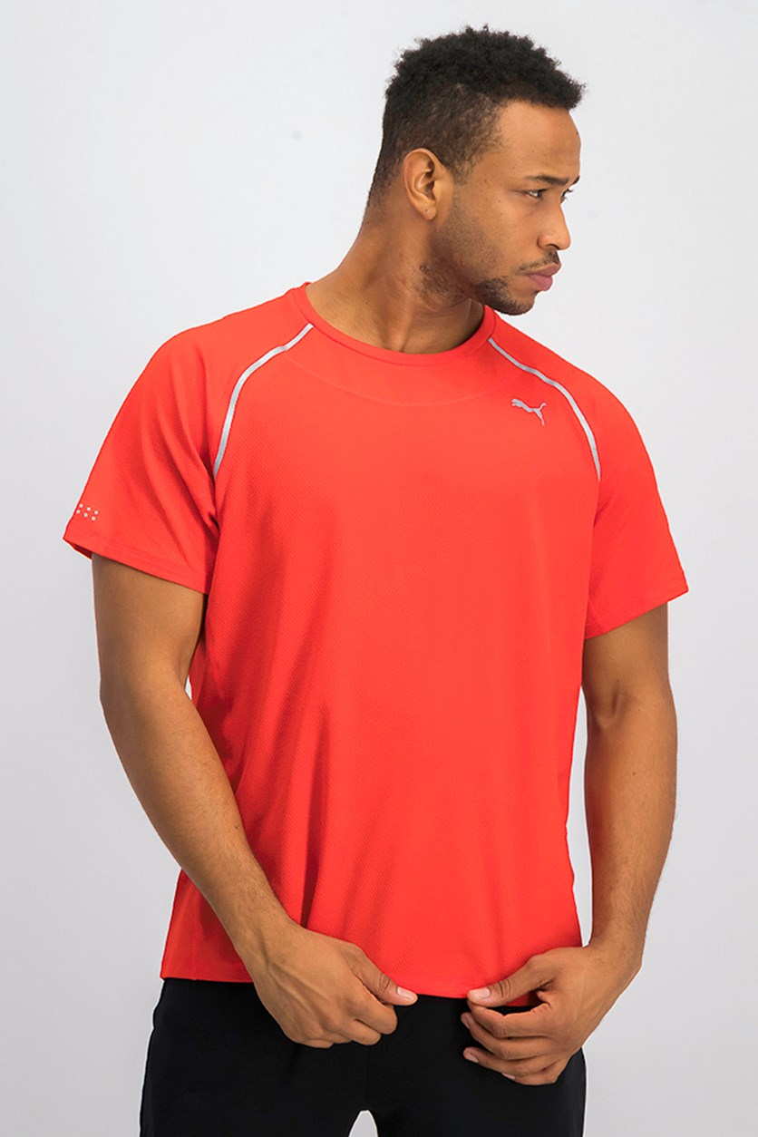 Men's Power Thermo Running Shirt, Red