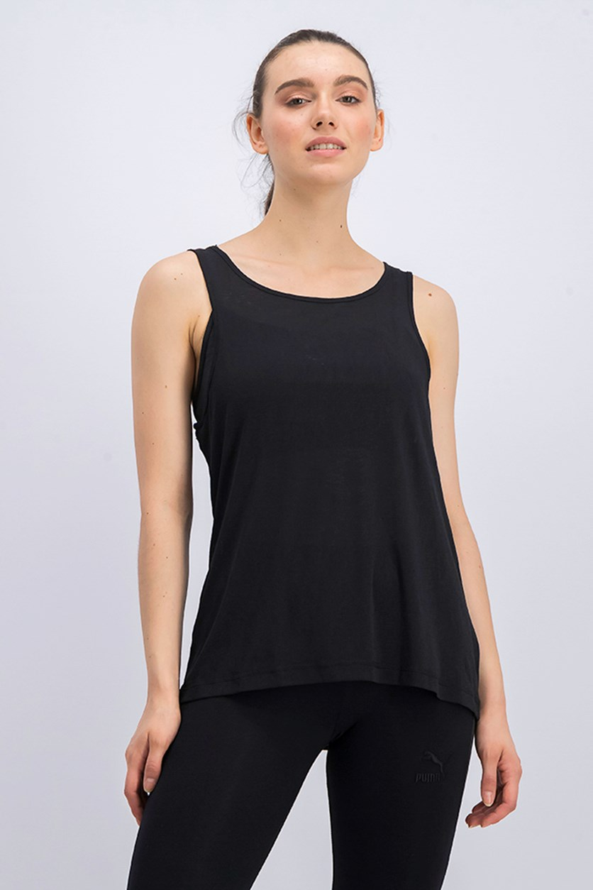 Women's Layer Tank Top, Black
