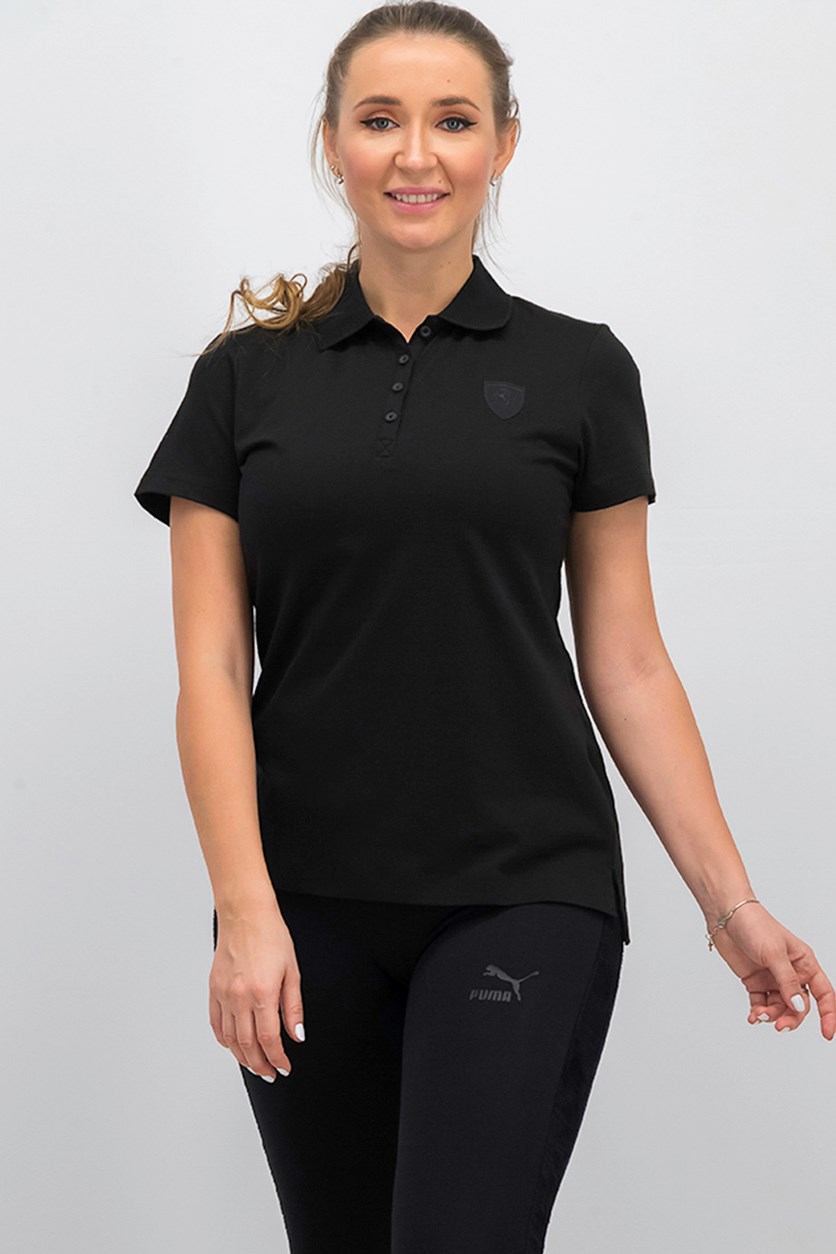 Women Short Sleeve Training Top, Black