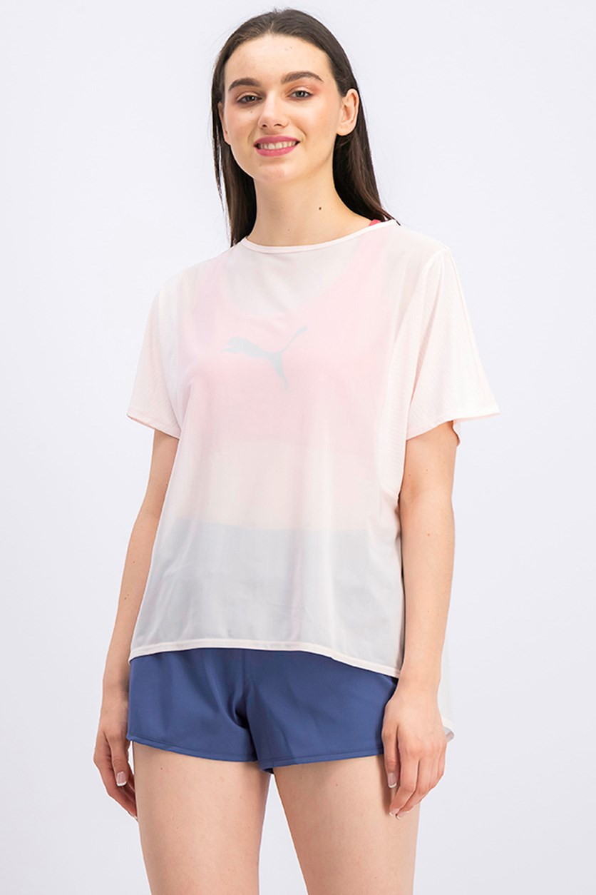Women's Explosive T-Shirt, Pearl/Blush