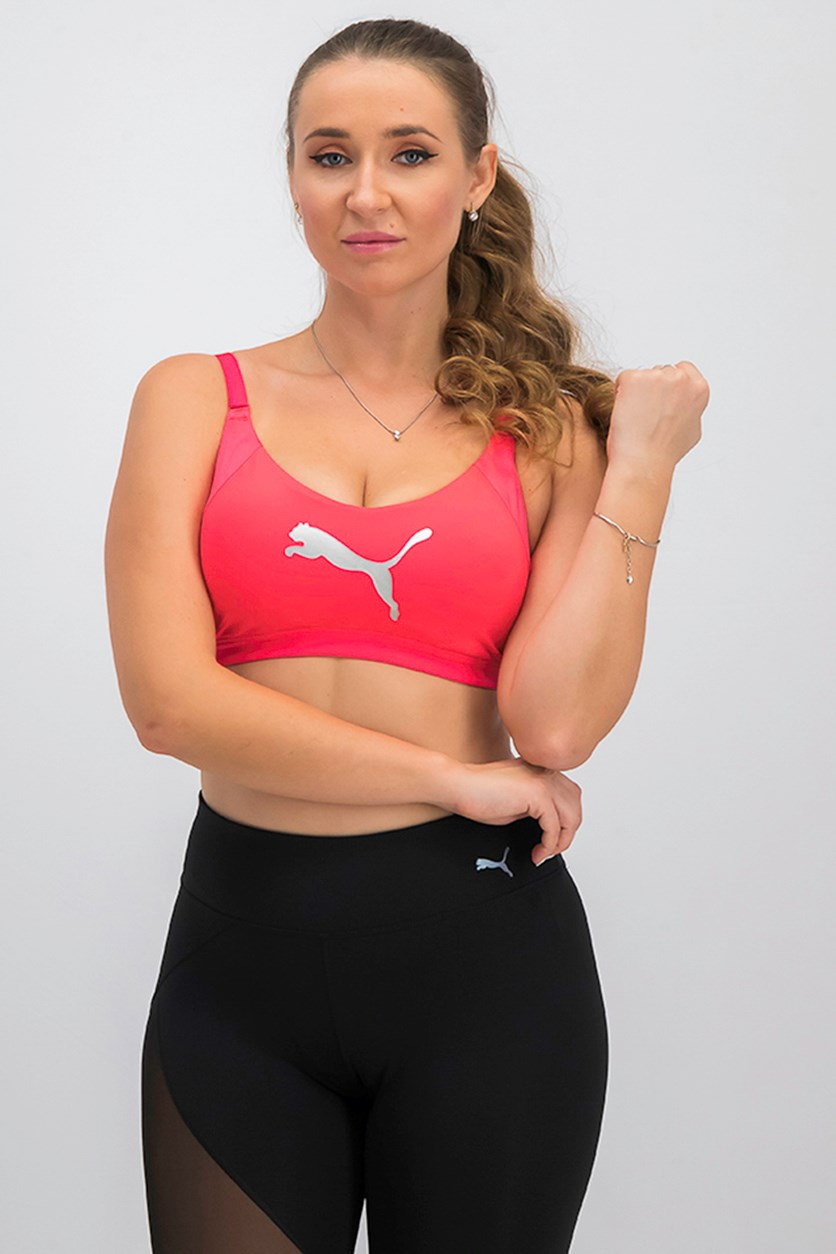 Women's En Pointe Logo Bra, Bright Plasma