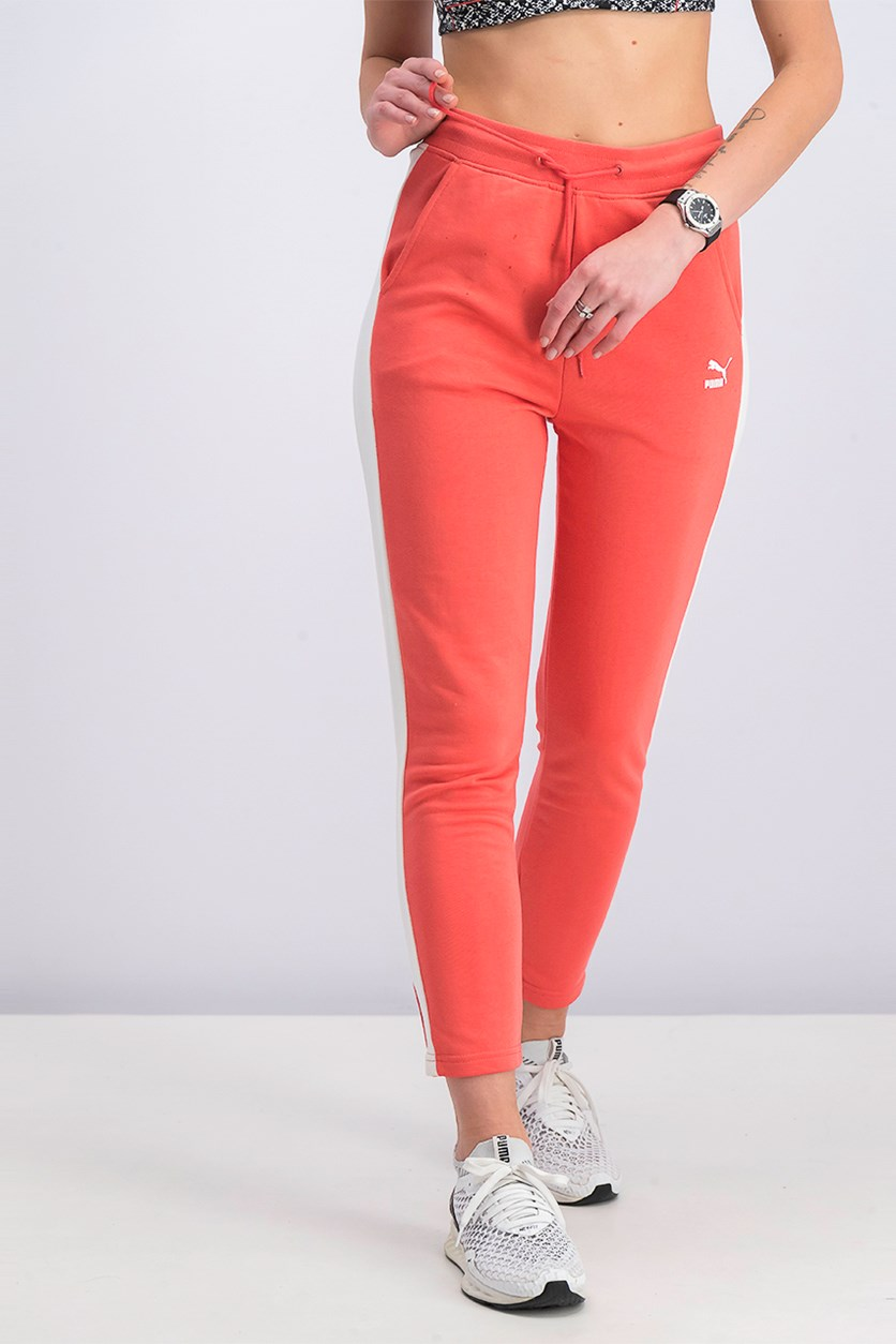 Women Training Pants, White/Orange