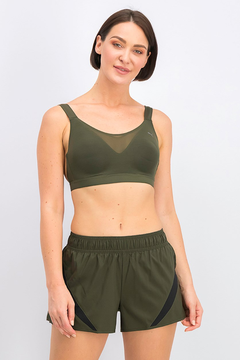 Women's Control Mesh High Impact Bra, Green