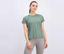 Puma Womens Explosive Box Tee, Light Olive