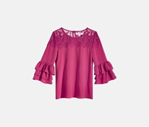 Beautees Big Girls Bell Sleeve Tops, Berry