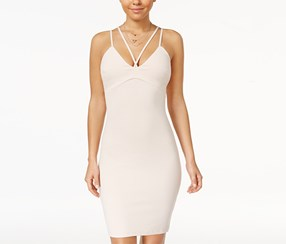 Sequin Hearts Women's Strappy Slip Dress, Rose
