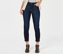Style & Co Women Skinny Frayed-Cuff Ankle Jeans, Moon