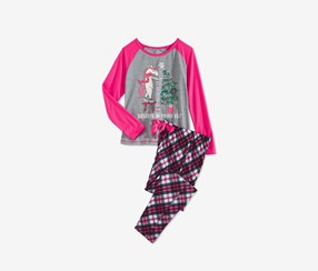Big Girls 2-Pc. Unicorn Elf Pajama Set, Pink Combo