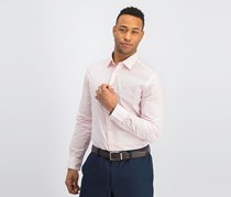 Hackett Men's Slim Fit Fine Poplin Stripe Shirt, Pink/White
