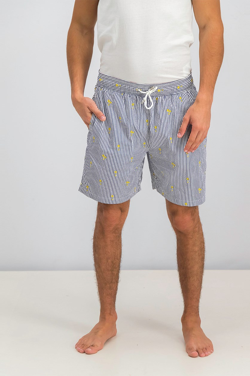 Men's Drawstring Board Shorts, Navy